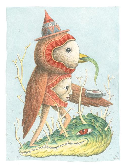 Drawings by artist Nick Sheehy