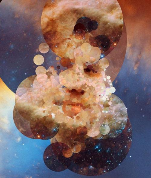 Stardust generative portraits by Sergio Albiac