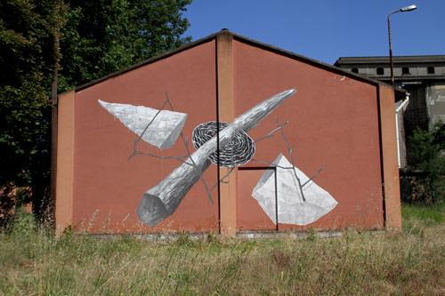 Street paintings by artist G . Loois
