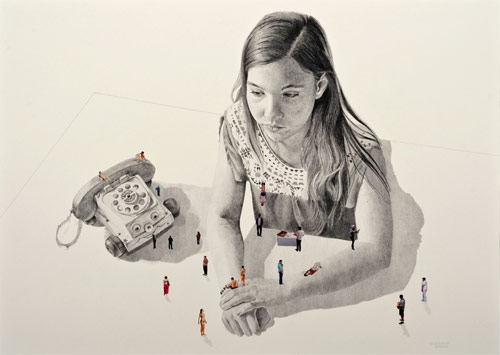 Drawings by artist Alejandrina Herrera