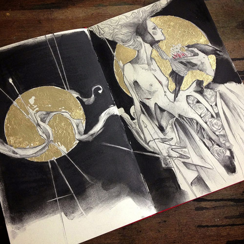 Sketchbook drawings by artist Craww