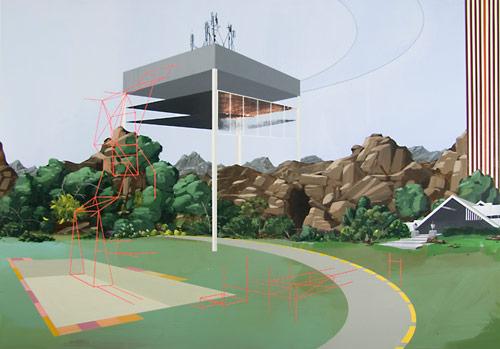 Paintings by artist Dean Monogenis