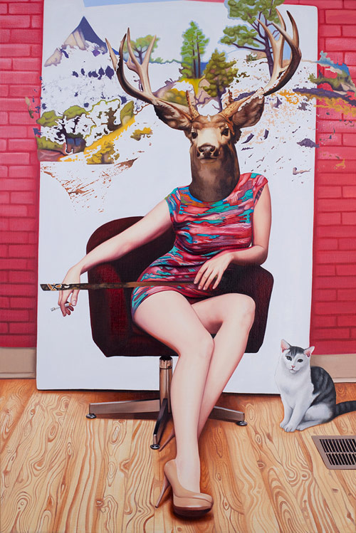 Artist painter Emily Burns