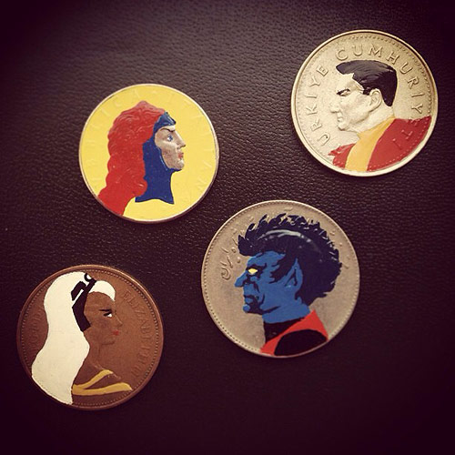 Tales You Lose Coin Paintings by Artist Andre Levy