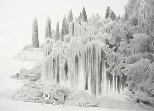 artist Duckhoon Gim drawing illustrations