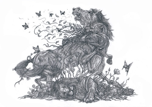 Artist Sam Yong drawings