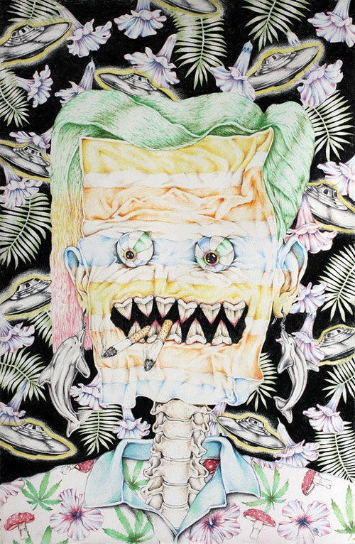 Drawings by artist Cahill Wessel
