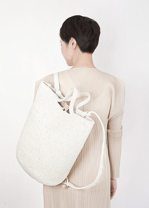 Bags by artist Doug Johnston