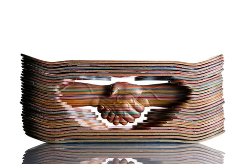 stacked skateboard sculptures by haroshi