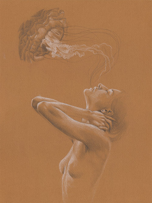 Drawings and paintings by artist Mandy Tsung