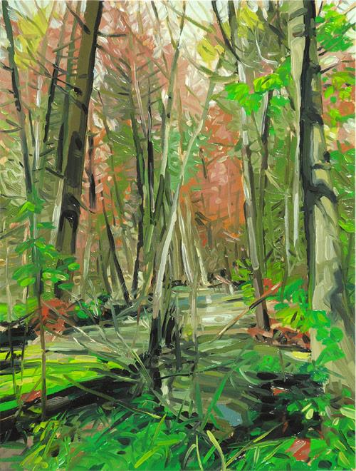 Paintings by Toronto-based artist Mara Korkola