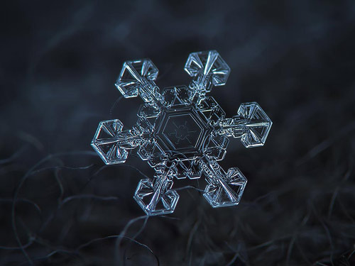 Photographer Alexey Kljatov Tapes Lens To Camera To Take Incredible Macro Snowflake Photos