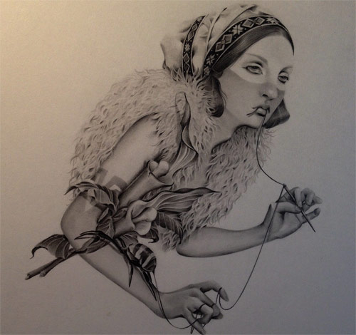 Drawings by Japanese artist Ozabu