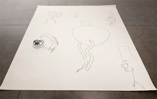 Robot Created Drawings by Matthias Dörfelt