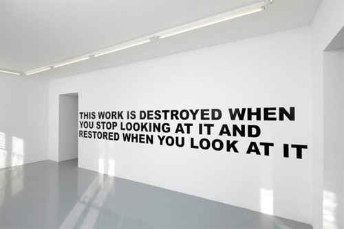 Text Installations by artist Stefan Brüggemann