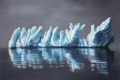 pastel drawings of greenland chasing light by artist zaria forman-forman_08