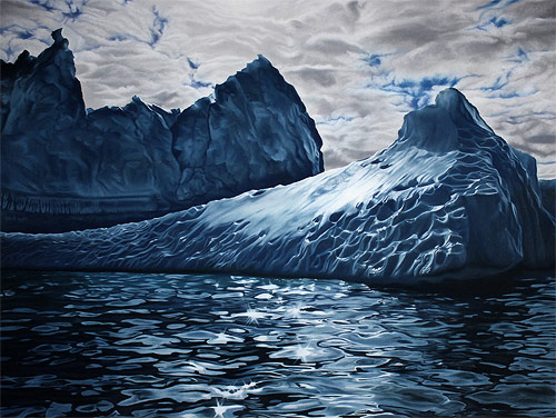 pastel drawings of greenland chasing light by artist zaria forman-forman_13