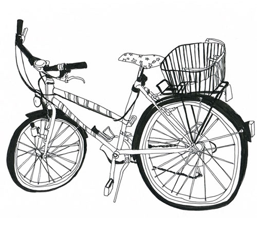 bike drawings by Marion Täschler