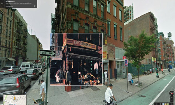 CLASSIC ALBUM COVERS LOCATED IN GOOGLE MAPS