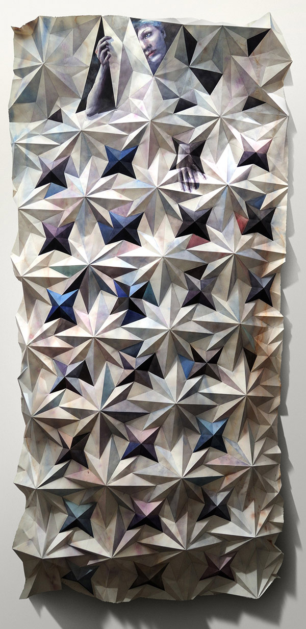 folded paintings by artist marcelo daldolce