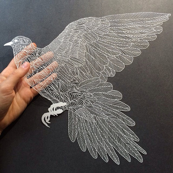 Incredibly intricate paper cut works by artist maude white