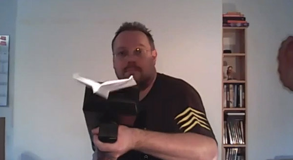 Invention of the Day: 3D-Printed Machine Gun That Folds and Shoots Paper Airplanes