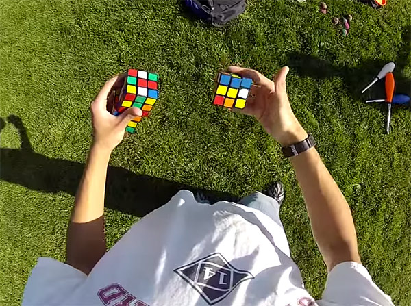 juggling-3-rubiks-cubes
