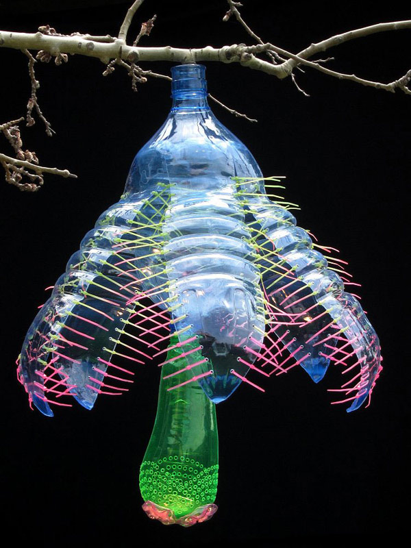 Plants Made From Recycled Plastic Bottles By Artist