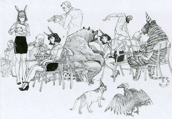 incredibly detailed drawings by artist kim jung gi