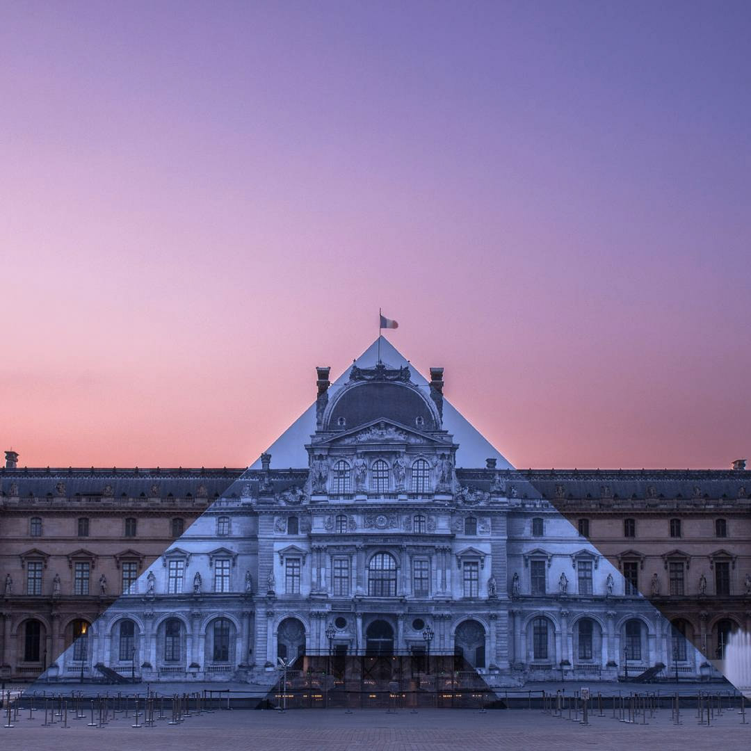 artist jr makes the louvre u2019s glass pyramid disappear