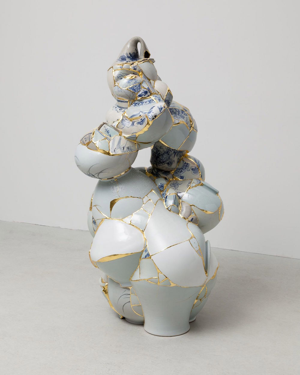 Gold Fused Sculptures Made From Remnants Of Shattered Porcelain Booooooom Create Inspire
