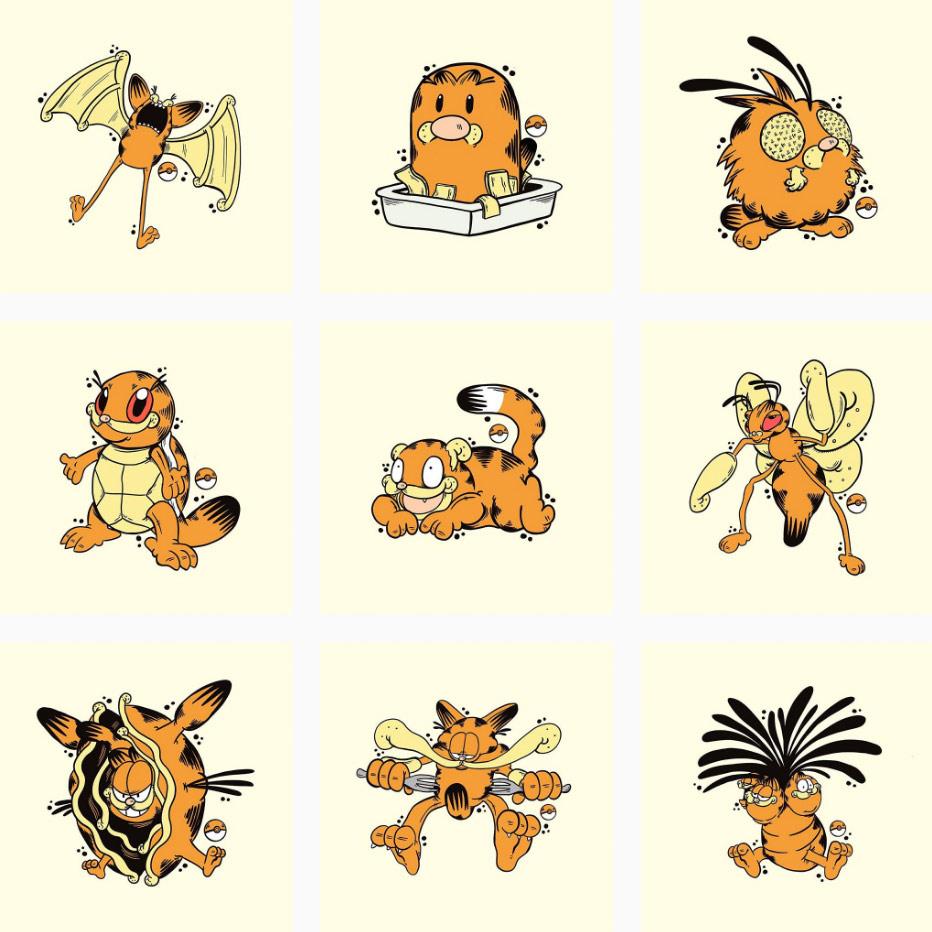 pokemon + garfield = garfemon