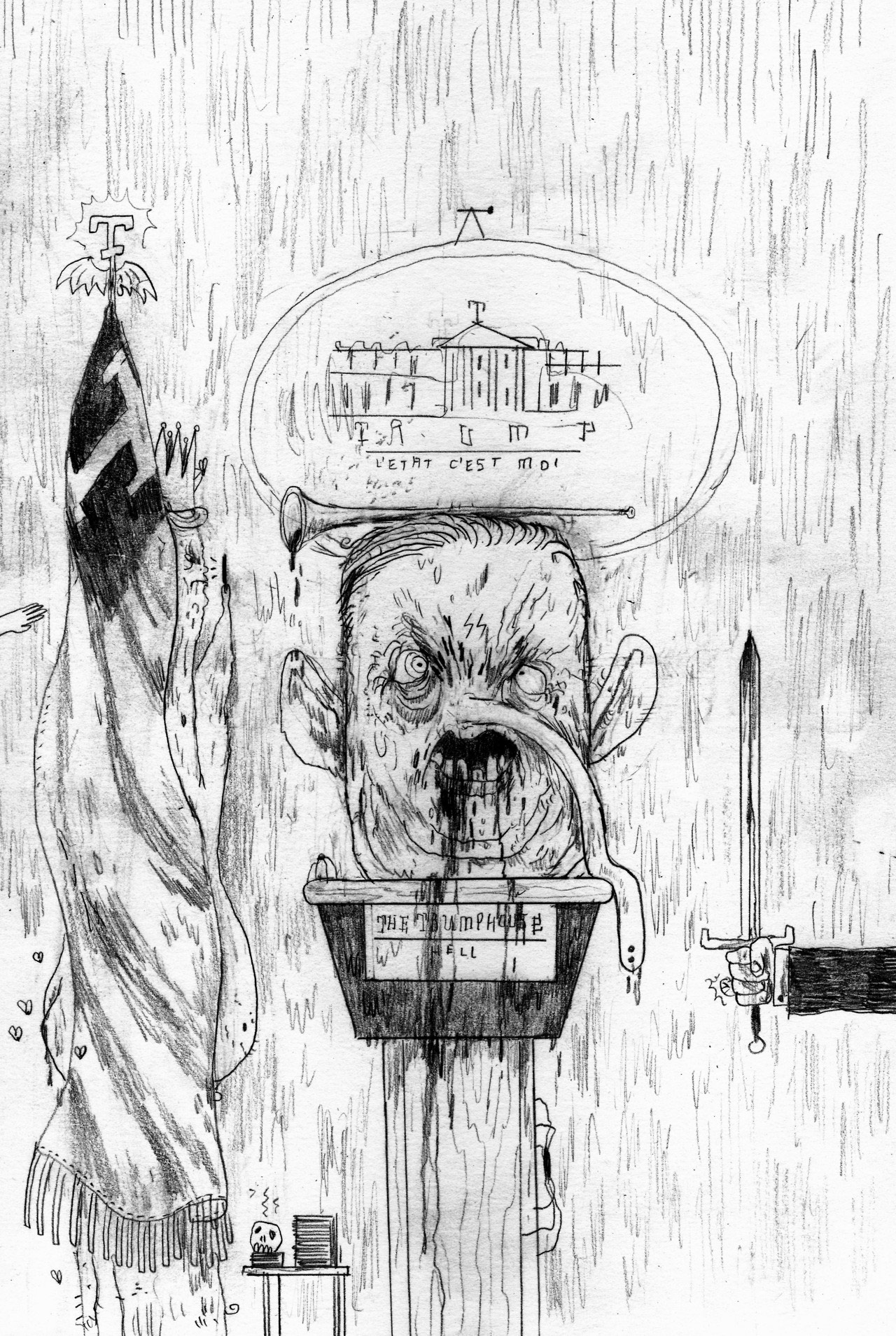 Tumblr Of The Day Daily Disgusting Drawings Of President Donald