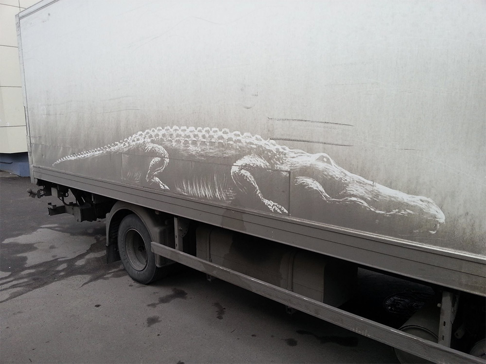 Artist Nikita Golubev Draws Animals on Dirty Cars – BOOOOOOOM! – CREATE * INSPIRE * COMMUNITY * ART * DESIGN * MUSIC * FILM * PHOTO * PROJECTS