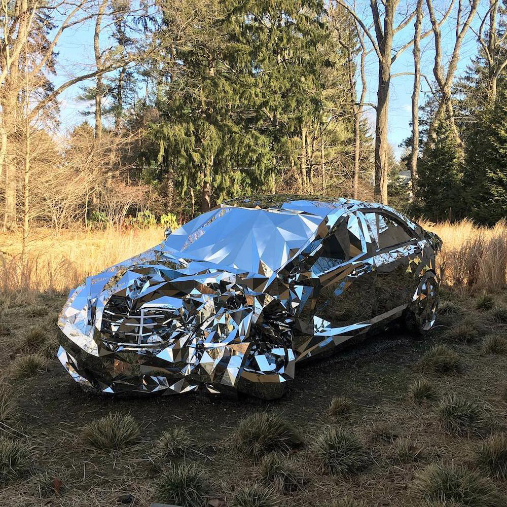 Replica Cars: A Non-Functional Car Made From Over 12,000 Reflective