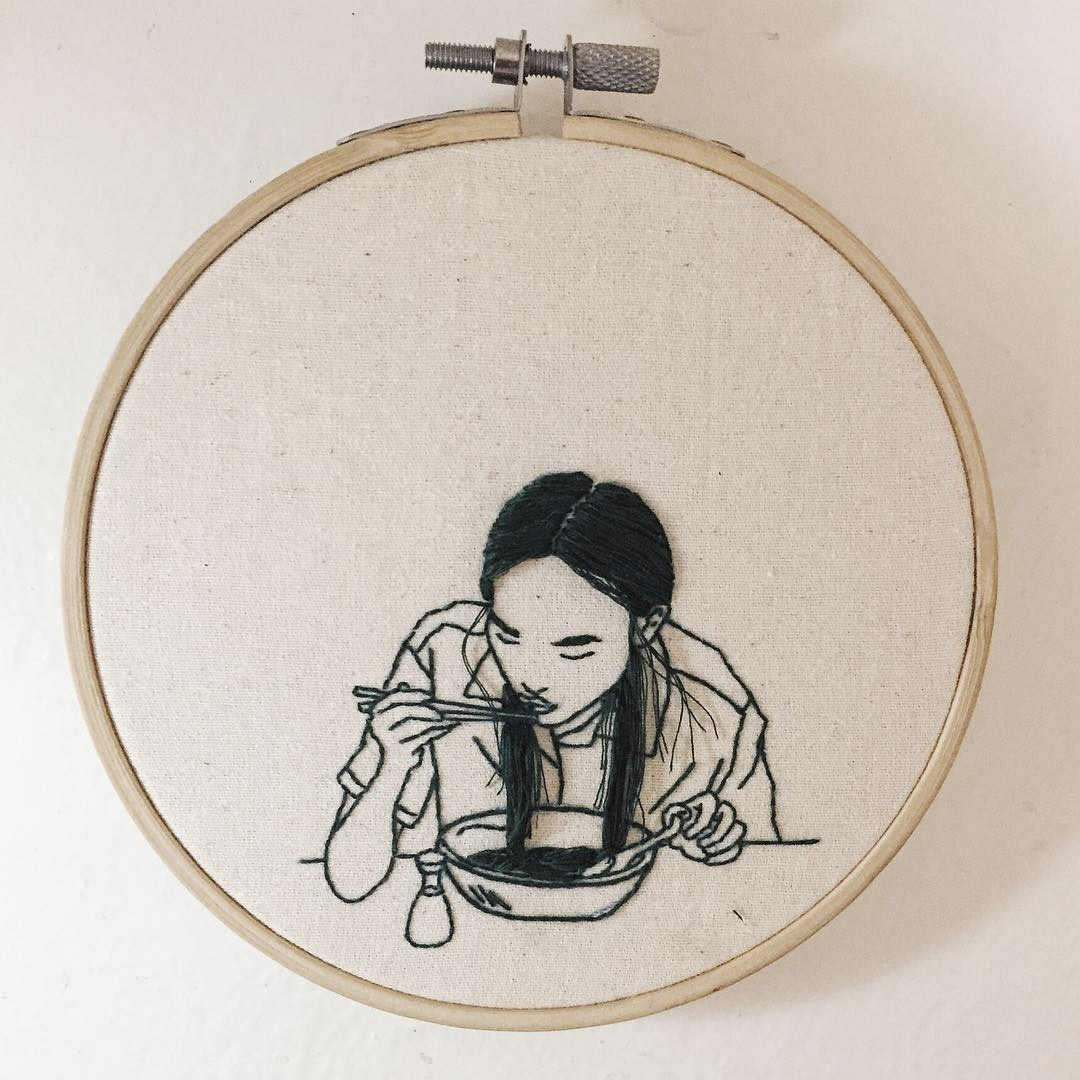 Embroidered Portraits By Artist Sheena Liam Booooooom