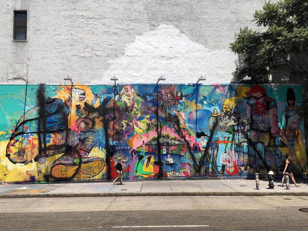 David choe s controversial bowery mural has been defaced for Bowery mural nyc