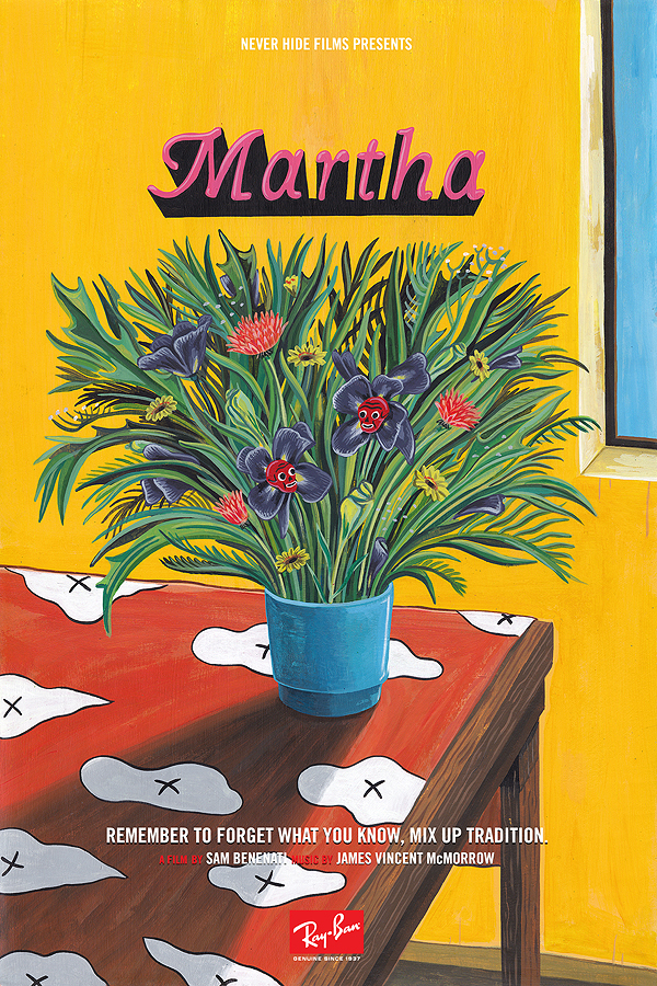 Poster design for Ray-Ban by artist Brecht Vandenbroucke