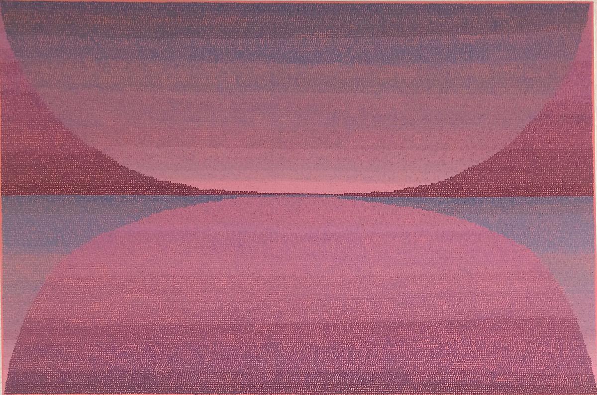 "Sage 48""x72"" acrylic, sand, smog on canvas 2017"