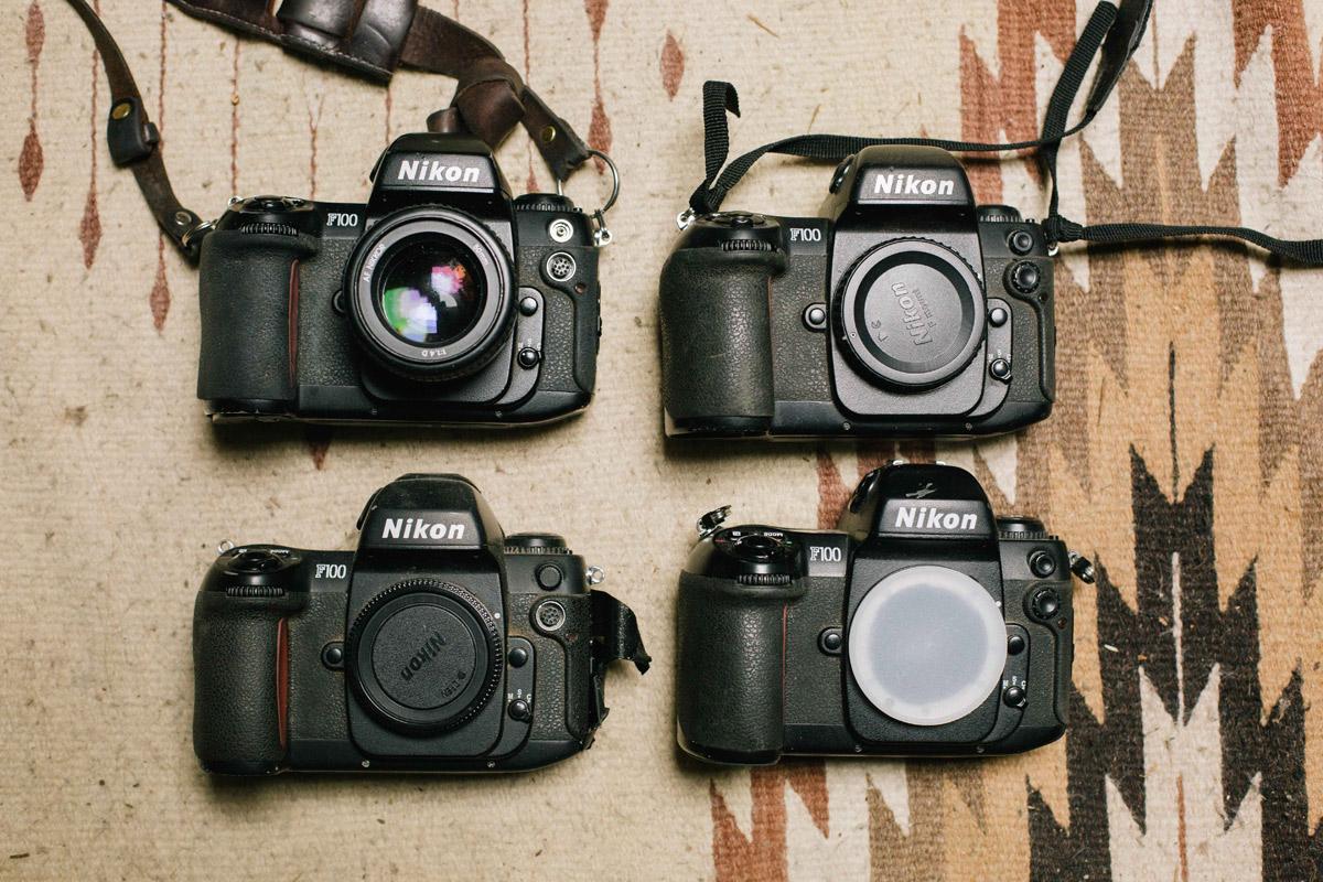 Photographer Alana Paterson' F100 cameras