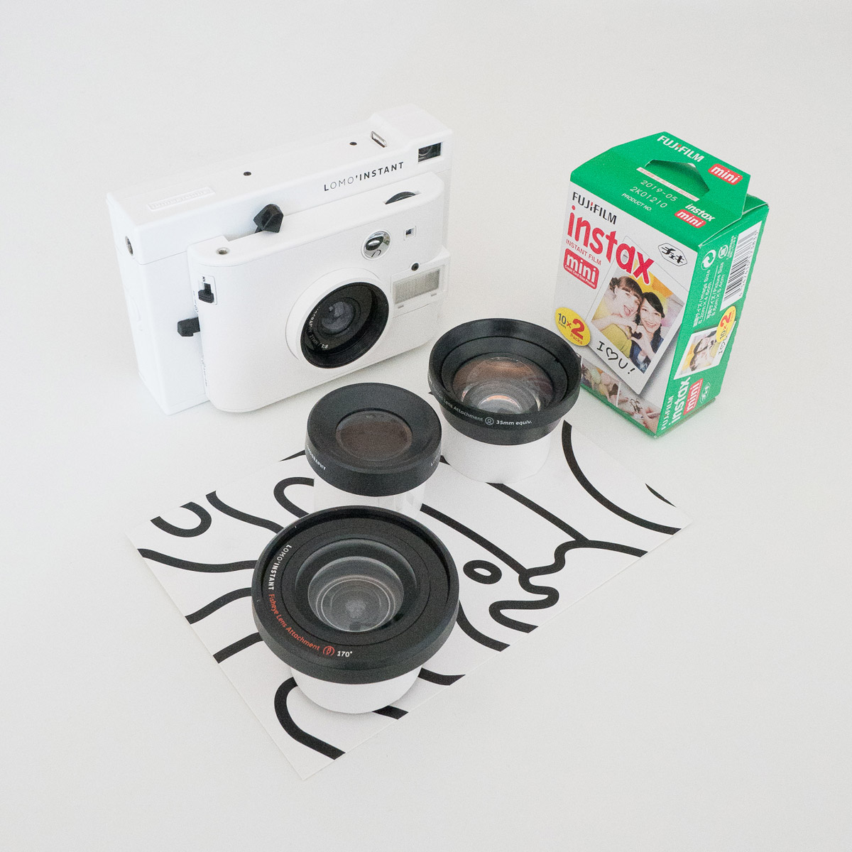 Lomo'Instant Camera and lenses