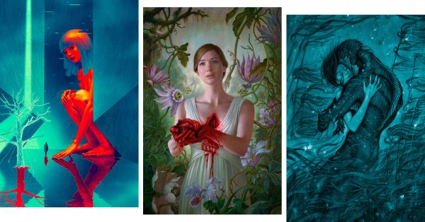 Film posters by James Jean - Blade Runner 2049, mother!, The Shape of Water