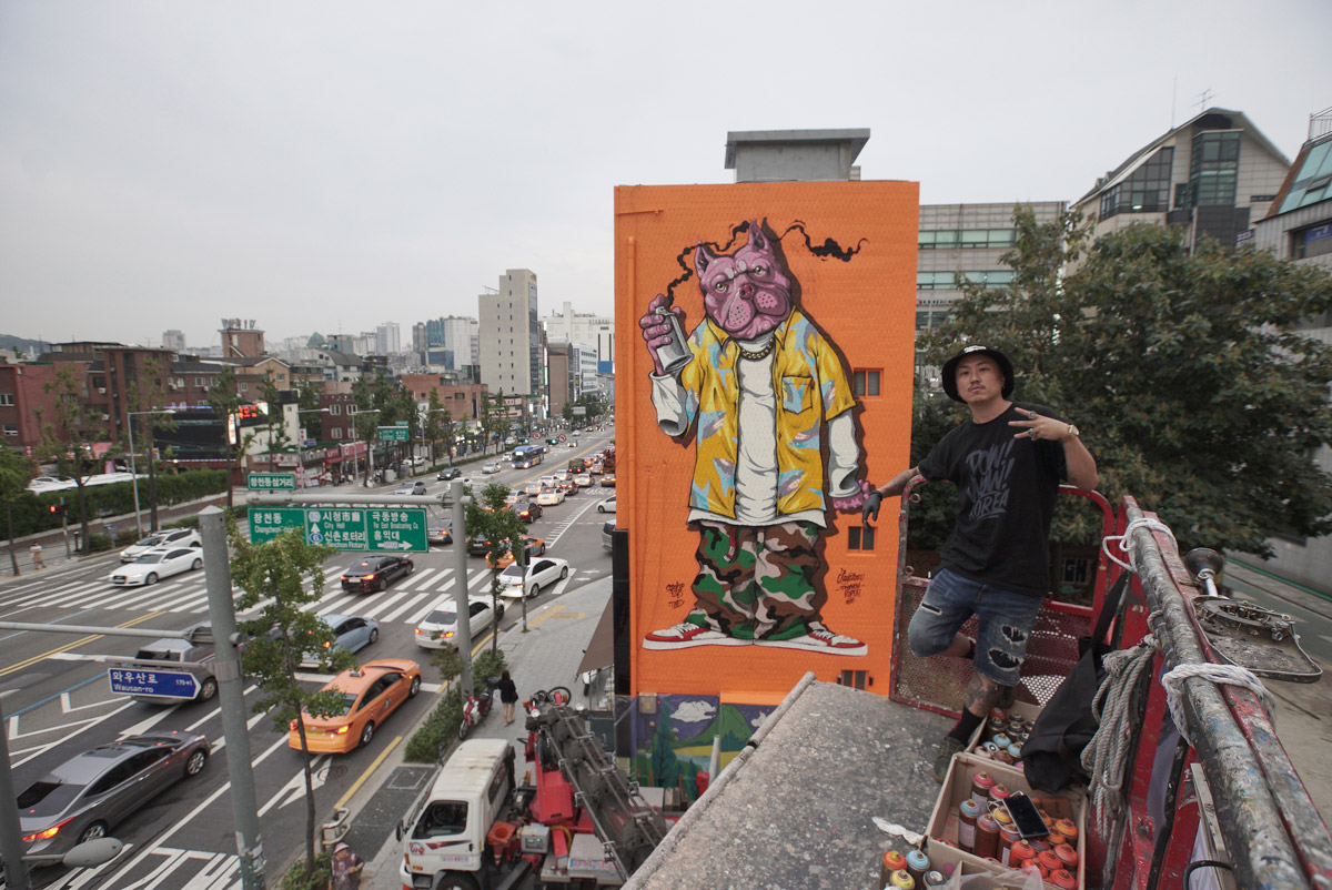 Mural by Jay Flow, photo by TJ Choe