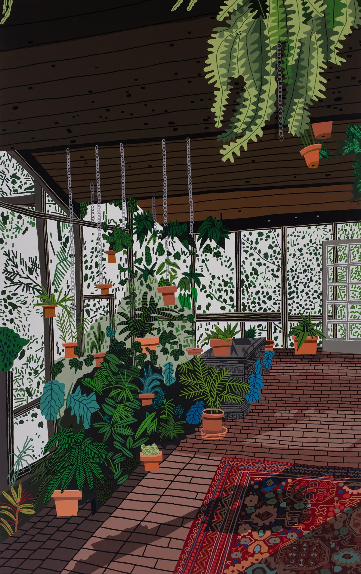 """Interiors and Landscapes"" by Artist Jonas Wood Nick Jonas"