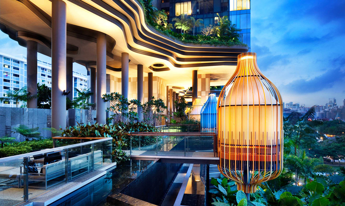Parkroyal on Pickering, hotel in Singapore. Photo: Patrick Bingham-Hall