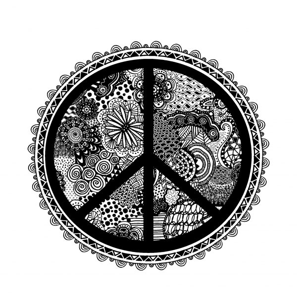 Zen Doodle Peace Symbol Booooooom Create Inspire Community