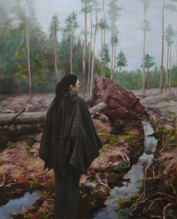 Mysterious oil paintings from European artist Justin