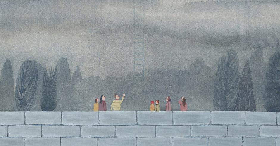 """From my window"" by Illustrator Sandra Rilova"