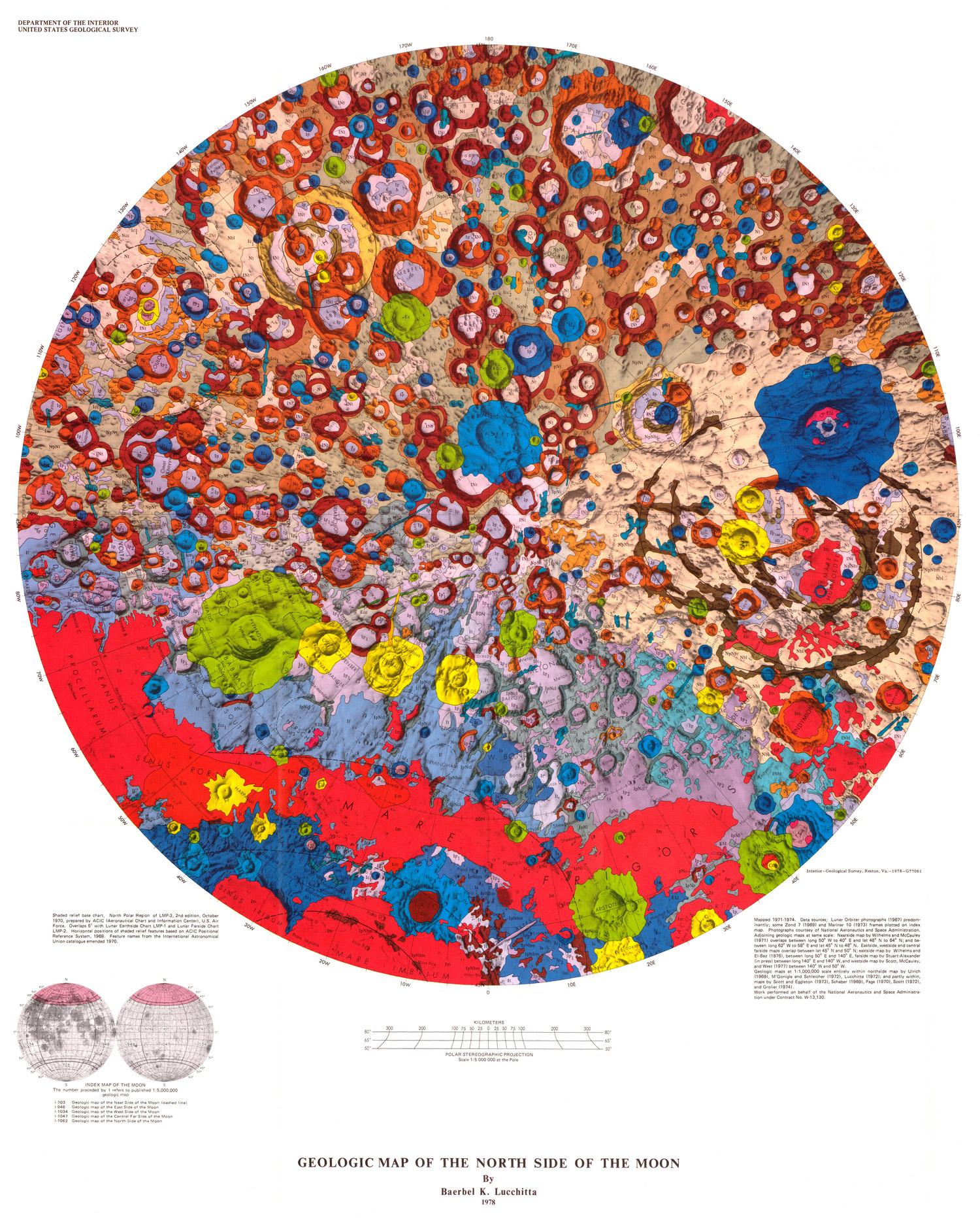 Beautiful Geologic Maps of the Moon – BOOOOOOOM! – CREATE * INSPIRE ...