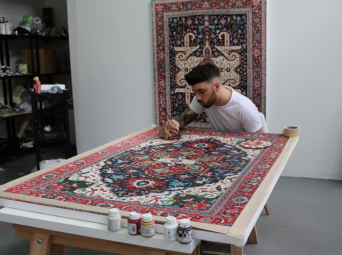 Rug paintings by Jason Seife